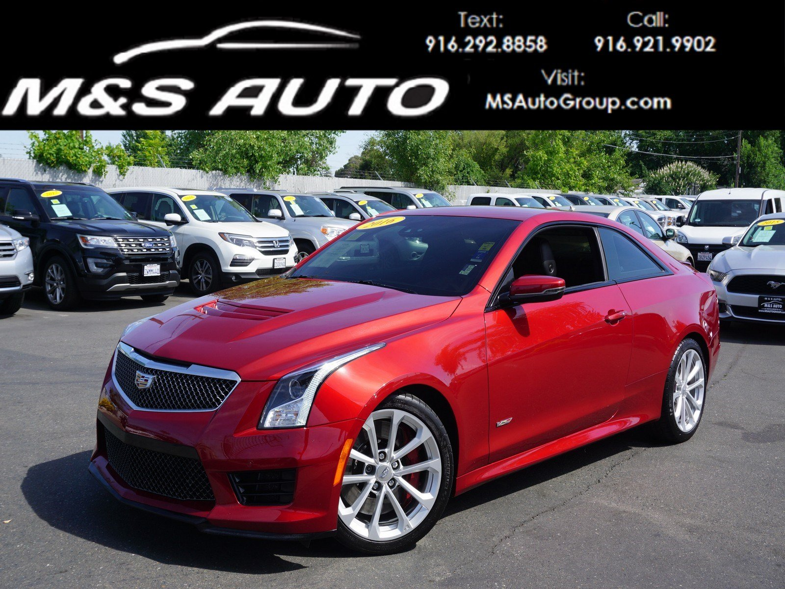 Cadillac Ats V Coupe >> Pre Owned 2016 Cadillac Ats V Coupe Coupe 2d 2dr Car In Sacramento