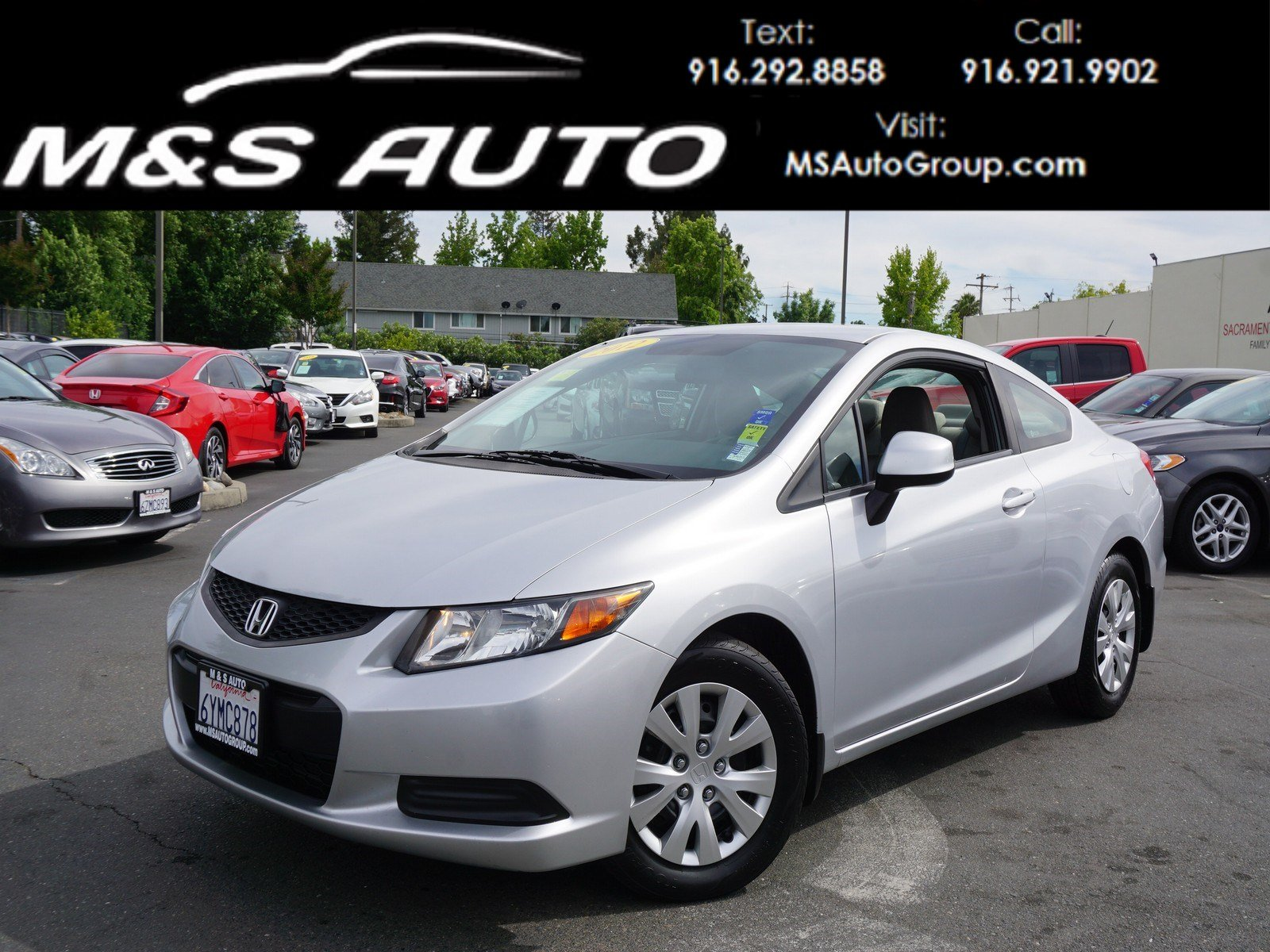 Pre-Owned 2012 Honda Civic Cpe LX