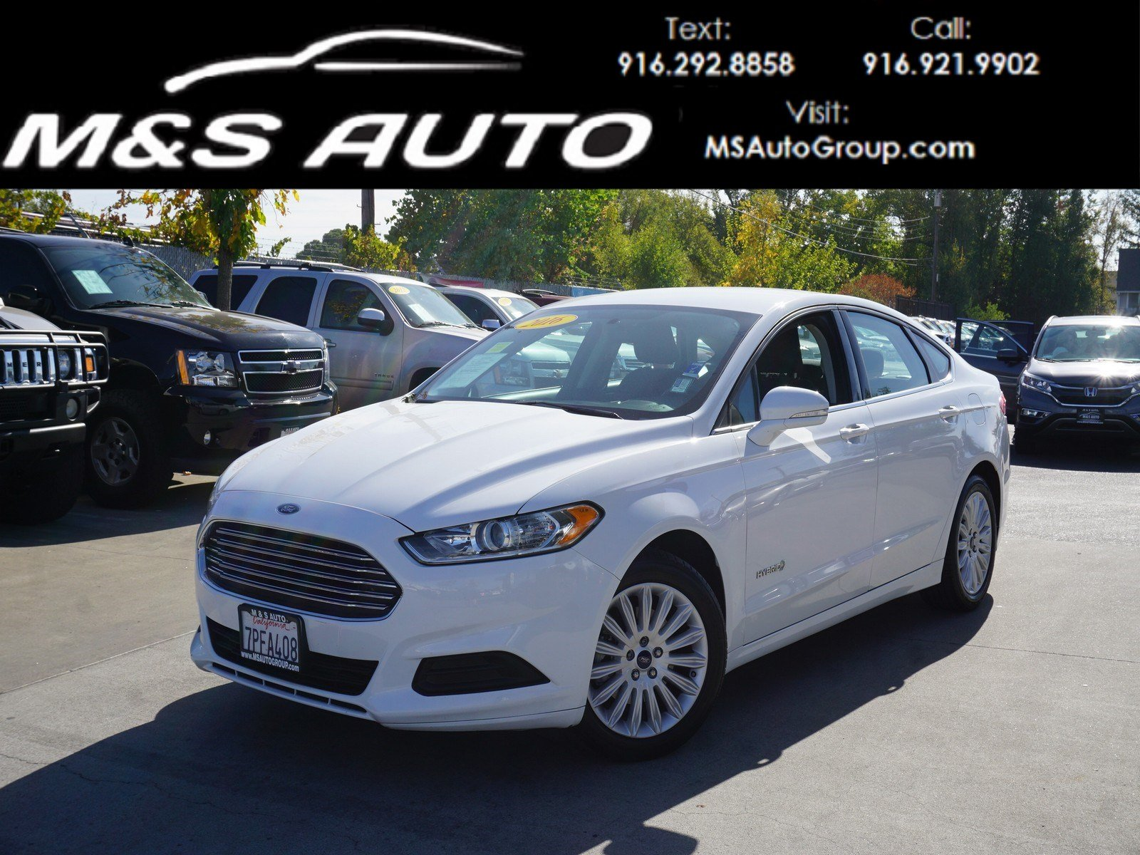 Pre Owned 2016 Ford Fusion SE Hybrid 4dr Car in Sacramento A